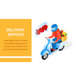 order delivery service isometric banner layout vector image vector image