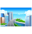 Overpass in City vector image