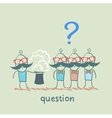people ask the magician vector image
