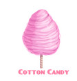 pink cotton candy vector image