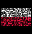 polish flag pattern of right arrow items vector image