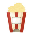popcorn icon movie and entertainment fast snack vector image vector image