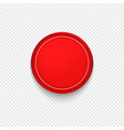 red button badge or banner vector image