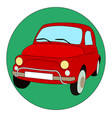 red car on white background vector image vector image