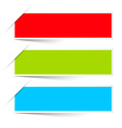 Red Green Blue Empty Paper Labels Set Isolated on vector image