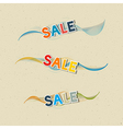 Sale Icons on Recycled Paper Background vector image vector image