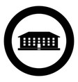 school building icon black color simple image vector image