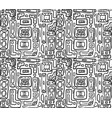 seamless black and white texture with tribal vector image vector image