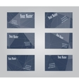 Set of six visit cards vector image vector image