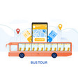 sightseeing bus tour travel concept vector image