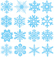 snowflake silhouettes vector image vector image