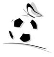 soccer ball logo vector image vector image