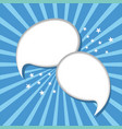 speech bubbles for dialogue advertising vector image vector image