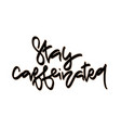 stay caffeinated hand drawn lettering vector image vector image