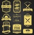 Steak Premium Label Design vector image