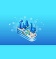the concept of intelligent smart cloud city vector image vector image