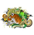 tiger design isolated vector image