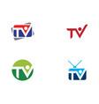 tv monitor icon vector image vector image