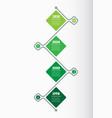 vertical timeline infographics the development vector image vector image