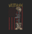 veteran army boot vector image