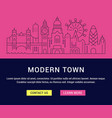 website banner and landing page modern town vector image vector image