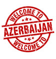 welcome to azerbaijan red stamp vector image vector image