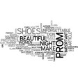 what shoes should you wear for unforgettable prom vector image vector image