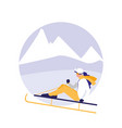 woman practicing skiing on ice avatar character vector image vector image