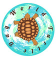 world turtle day reptile turtle background of the vector image vector image