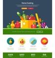 Flat design fruits and vegetables website header vector image