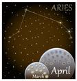 Calendar of the zodiac sign Aries vector image