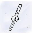 wrist watch cartoon doodle vector image