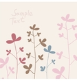 summer flowers cotton vector image