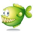 A big green fish vector image vector image
