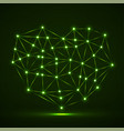 abstract neon geometric heart lines and dot vector image vector image