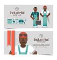 african workmen industrial banners vector image vector image