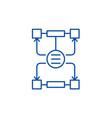 algorithm of decisions line icon concept vector image