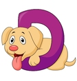 Alphabet D with Dog cartoon vector image vector image