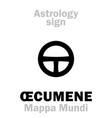 astrology oecumene mappa mundi vector image