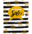 autumn sale typography flyer template with vector image