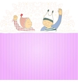 Baby shower card with twins little boy and girl vector image vector image