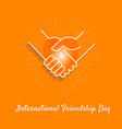 banner friendship day vector image