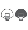 basketball hoop line and glyph icon game and vector image vector image
