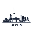 berlin city skyline vector image vector image