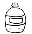 black and white empty bottle vector image