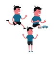 Boy cartoon Kids design graphic vector image