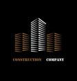 building company logo vector image vector image