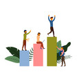 business sales growth people working concept vector image vector image