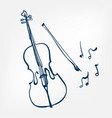 cello sketch isolated design element vector image vector image
