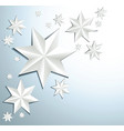 christmas star decoration vector image vector image